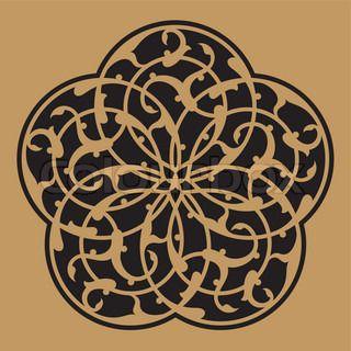 Adil Arabic Ornament Five | Vector | Colourbox on Colourbox