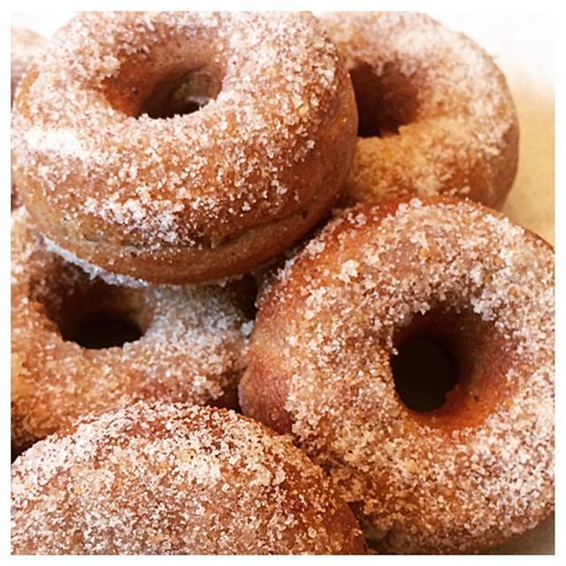 Cinnamon Sugar Cookie Mini Donuts made with Otto's Naturals Cassava Flour. Ingredients: 1 C Otto's Naturals Cassava Flour; 1 tsp baking powder; 1/4 tsp baking soda; 1/2 tsp salt; 1/2 tsp cinnamon; 1/4 tsp nutmeg; 1 egg; 1/3 C coconut sugar; 1/4 C milk, of choice; 1/4 C yogurt, of choice; 2 T ghee or butter; and 1½ tsp vanilla extract. Recipe courtesy of martidishes via Instagram.