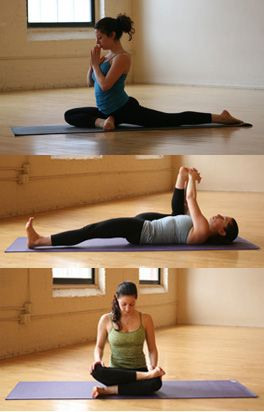 Hip Openers-Best right after a run! 1) Pigeon, 2) Happy Baby 3) Dwi Pada Rajakapotasana (double pigeon) or ankle to knee works. ;-)