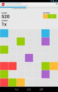 7x7 is a new puzzle game inspired by classic 5 or more. It's easy to grasp and very addictive. Make horizontal, vertical or diagonal rows of the same color by dragging pieces across the board and get points and power ups.