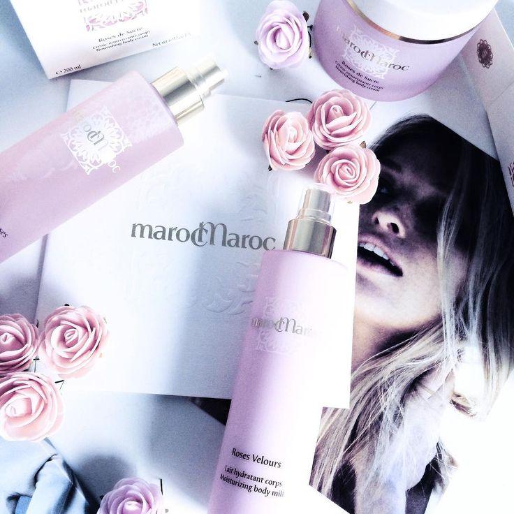 #marocMaroc by @sweet_celiine sur instagram.  Cosmétiques marocMaroc à la rose 🌹 : lait hydratant pour le corps , crème nourrissante et une eau fraîche , le packaging est juste sublime , l'odeur subtil j'aime déjà beaucoup ces produits , et à l'approche de la saint Valentin , le même lot que moi sera pour l'une d'entre vous !