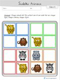 Sudoku avec animaux à imprimer