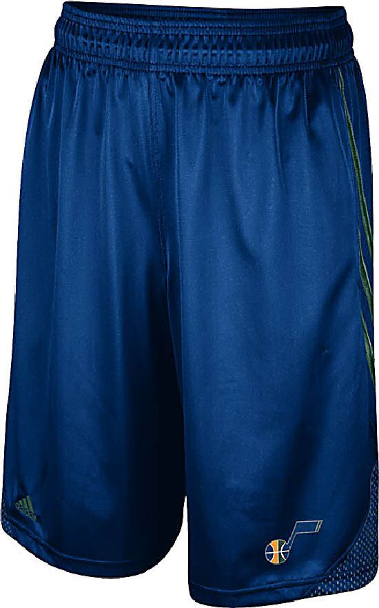 Utah Jazz Blue Embroidered 12 inch Inseam Hoop Shorts by Adidas $34.95