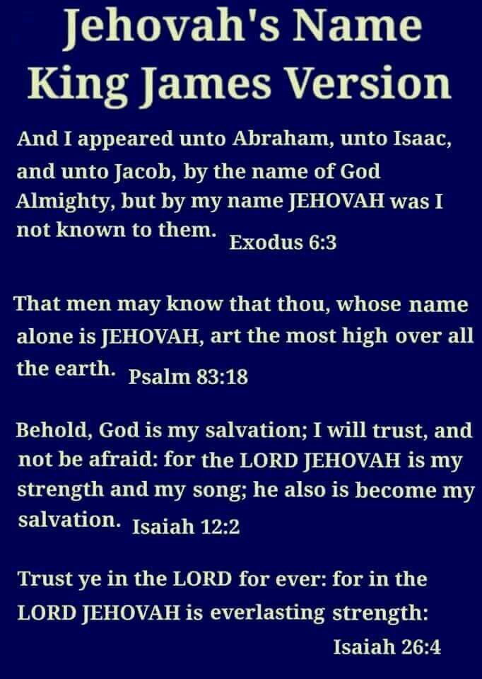 "Where God's name is found in the King James Version of the Bible. KJV. The name ""Jehovah"" can be found in most translations of the Bible."