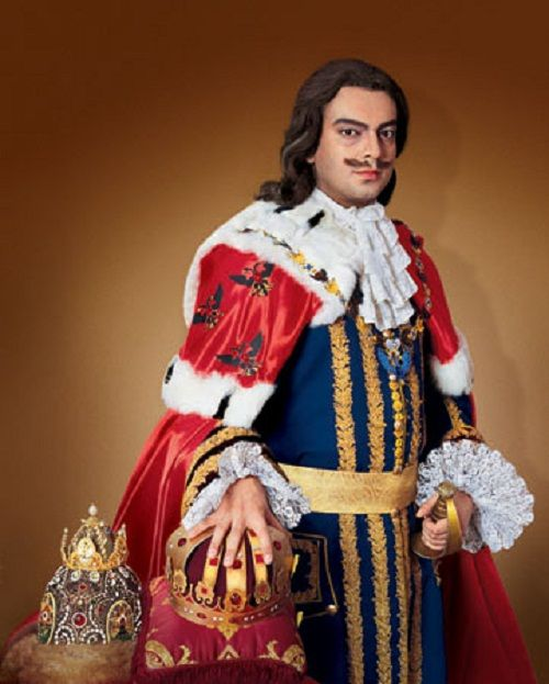Russian singer Philipp Kirkorov as Peter the Great. Photo reproductions by Ekaterina Rozhdestvenskaya