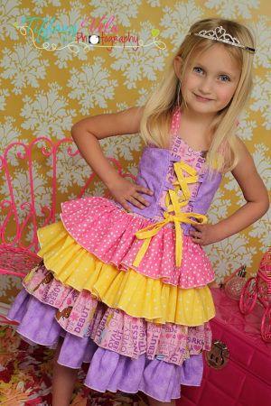 Download Primrose's Ruffled Corset Princess Dress Sewing Pattern | Most Popular | YouCanMakeThis.com