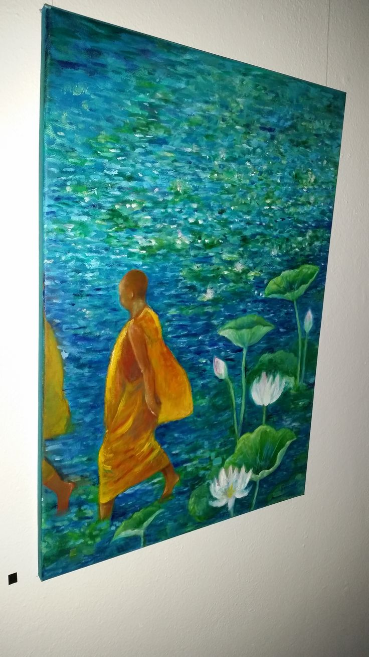 'Monks in Lotus Pond by Sonomi Leslie