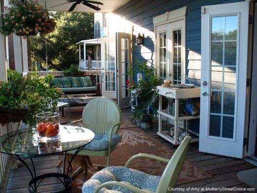 back porch friends - Pretty Porches And Patios