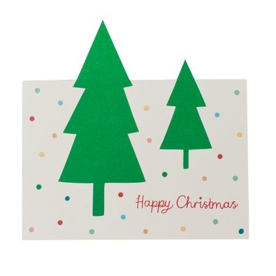 Christmas Tree Pop Up Card $5.95 - Write your Christmas wishes to friends and family beneath the winter forest of this gorgeous Christmas Pop Up Card. It's a fun and unique way to share happiness with those you love.