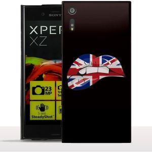 Coque Lips Union Jack Sony Xperia Xz - Housse, Etui gel Silicone - Drapeau
