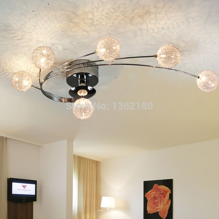 Ucuz 6 Işıklar Yeni Modern Alüminyum küresel gölge Tavan Lambası Avize Kolye Işık yatak odası oturma odası için sıcak satış, Satın Kalite tavan ışıkları doğrudan Çin Tedarikçilerden:                  &
