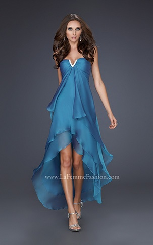 High-low #prom #dress La Femme
