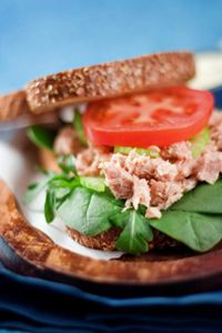 Lunch • 1/2 tuna salad sandwich (with lettuce, tomato, and light mayo)
