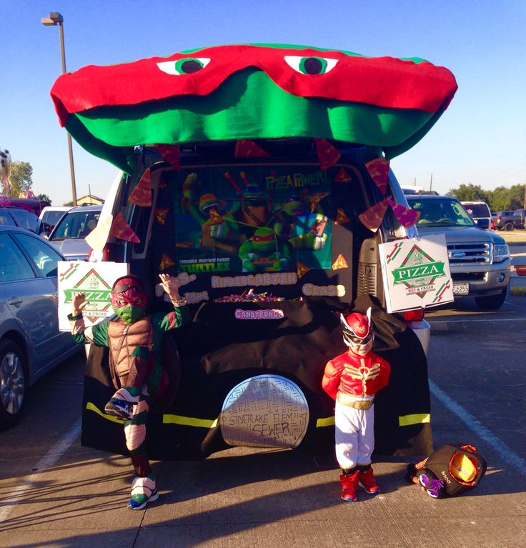 Ninja Turtles themed Trunk or Treat 2014 Halloween
