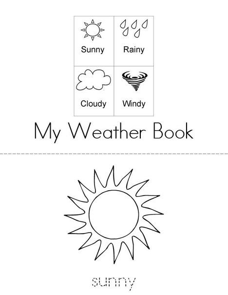 Weather Words Mini Book from TwistyNoodle.com (With images