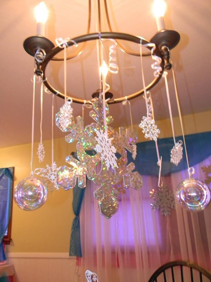 Frozen Party Decor Snowflake Chandelier P A R T Y Because I Gotta Pinterest
