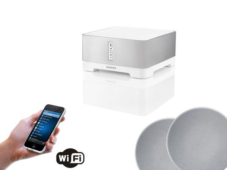 The SONOS CONNECT AMP ceiling speaker bundle includes everything that you are going to require to wirelessly fill your full home with audio