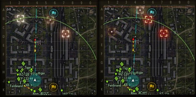 World Of Tanks mods : 9.20.1.1 Destroyed Objects On The Minimap And InGa...