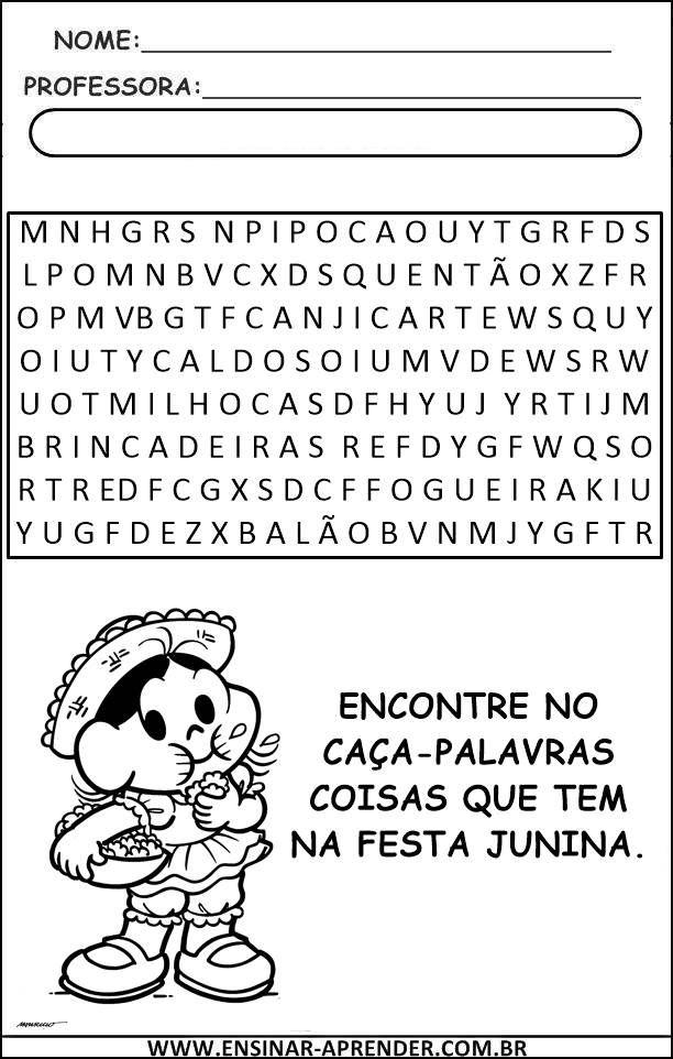 """""""Atividades Escolares"""": Novas Atividades Festa Junina"""
