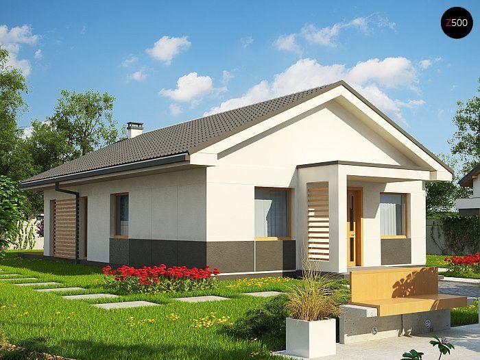Общая площадь 88,3 м² Проект дома Z329 понравиться вам, если вам импонируют проекты домов в современном стиле.