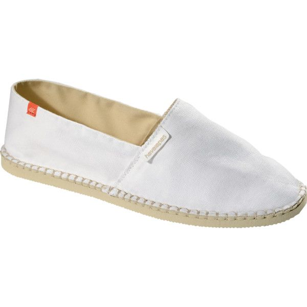 Havaianas Origine Ii Espadrille (507.565 IDR) ❤ liked on Polyvore featuring shoes, sandals, sapatos, espadrilles, white, women, wide shoes, wide fit shoes, espadrille sandals and havaianas espadrilles