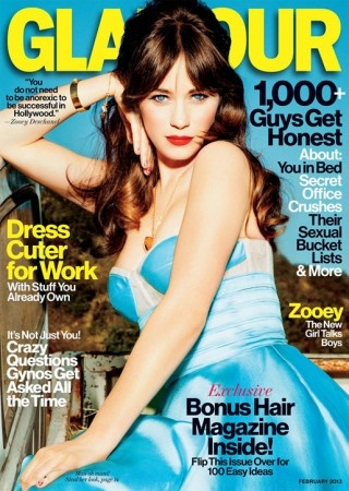 """I love this from Zoe Deschanel: """"I'm just being myself. There is not an ounce of me that believes any of that crap that they say. We can't be feminine and be feminists and be successful? I want to be a f–king feminist and wear a f–king Peter Pan collar. So f–king what?"""""""