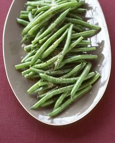 A nice green bean option - think I would serve the beans warm