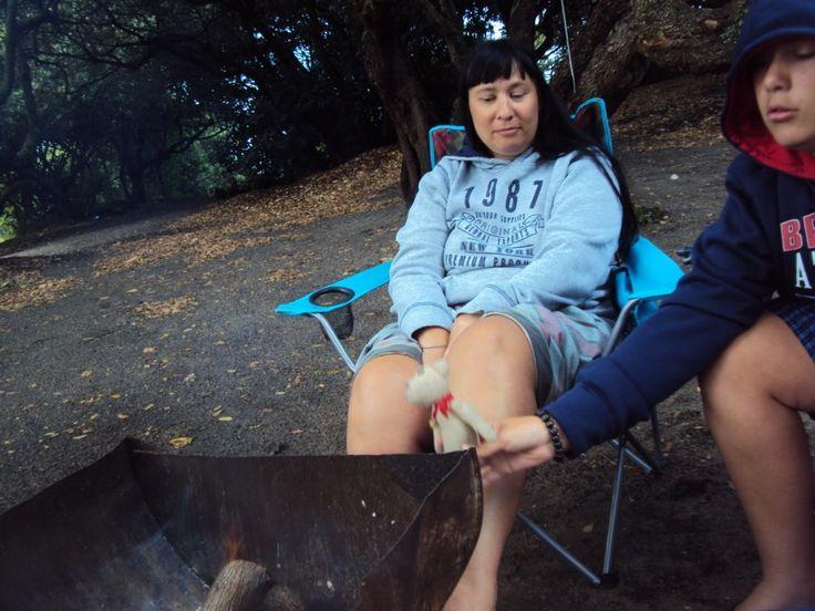 Relaxing around the camp braai...