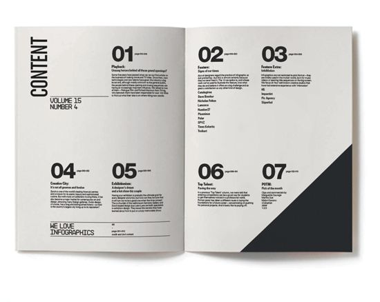 1,2,3,4 Stages of the design process in the contents page?