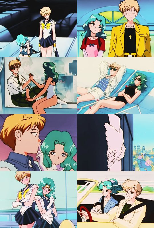 天王はるか(セーラーウラヌス)&海王みちる(セーラーネプチューン) Haruka tenoh (Sailor Uranus) and Michiru Kaioh (Sailor Neptune) - Sailor Moon screencaps