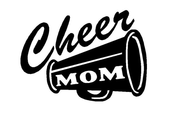 Cheer logos design cheer megaphone adhesive vinyl decal sport decals spirit decals
