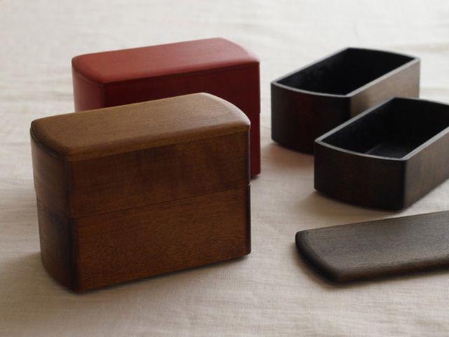 Wooden lacquered #bento boxes by Oji Masanori #spoontamago
