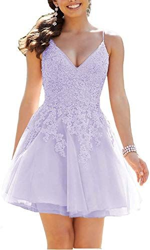 Buy Graceprom Women's Tulle Homecoming Party Dress Crystal Beaded Lace Appliques Short Cocktail Prom Gowns online