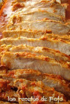 Sencillo y jugoso lomo al horno repleto de sabor. En muy poquito tiempo podemos tener un plato bien rico que no requiere estar pendien...