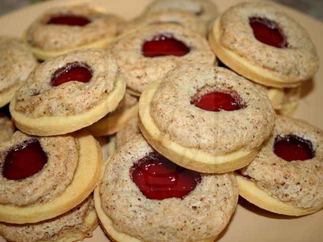 Kolečka s ořechovým sněhem - hodilo by se na Vánoce