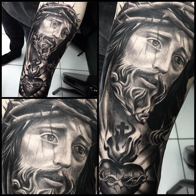 Men's Jesus Tattoo Design