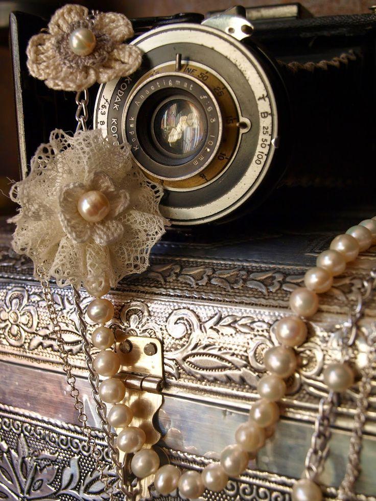 Romantic Pearls: Un mundo de perlas! Elengante, único, hermoso, vintage, collar de perlas cultivadas. Handmade necklace of cultured pearls.
