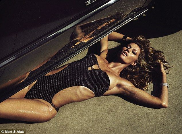 Gisele takes like a fish to water as she strips nude for provocative swimming pool shoot | Mail Online