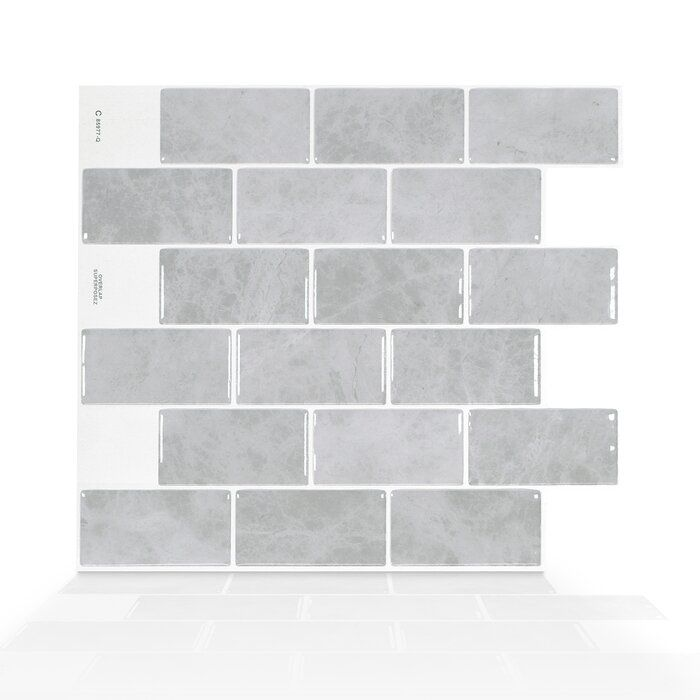 Fondi 10 X 11 Gel Peel Stick Subway Tile Smart Tiles Mosaic Wall Tiles Stick On Wall Tiles