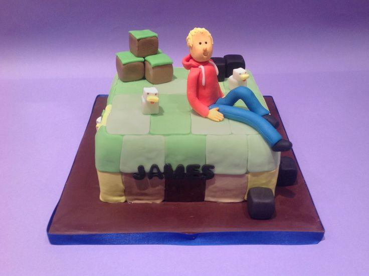 Minecraft Fan's Cake