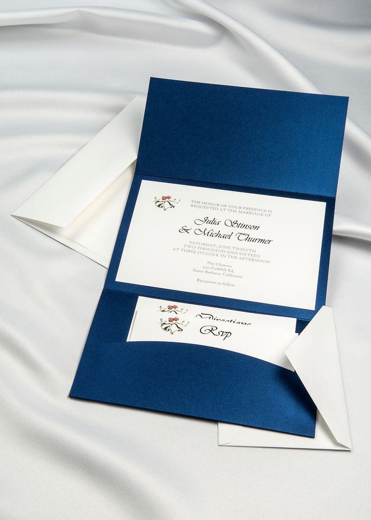 Horizon Pocket Folder Invitation Kit Shire Blue Pack Of 20