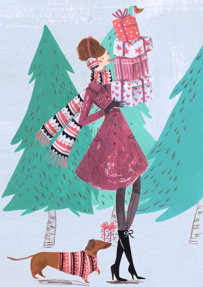 2014 Christmas Cards - Emma Block Illustration