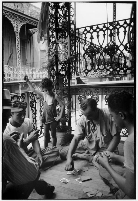 Henri Cartier-Bresson // USA. Louisiana, 1947 -  New Orleans. A Cajun family near the French market.