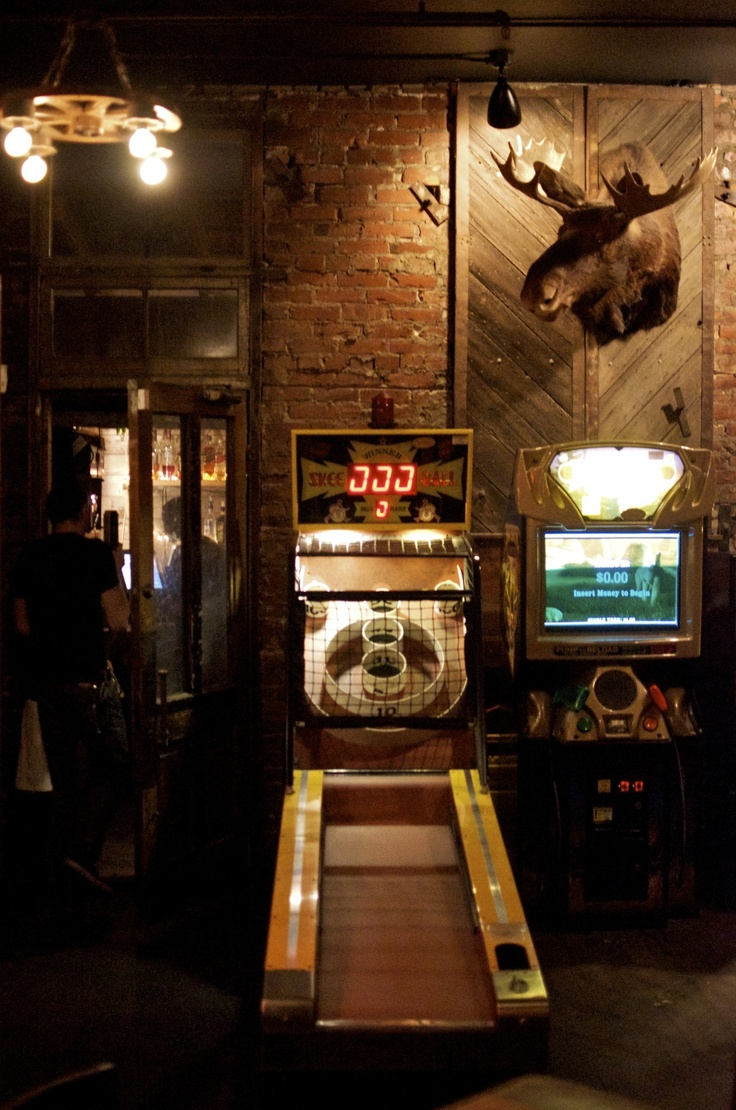 Man Caves Are Stupid : Beer skee ball and taxidermy my kind of place b a r