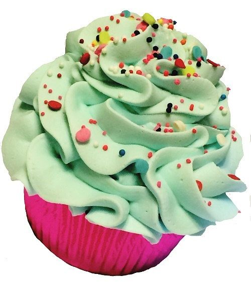 Blueberry Blitz Cupcake Bath Bomb by MeltedAddiction on Etsy