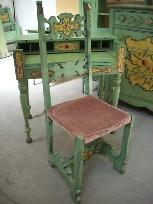 Victorian Bedroom Set Carved Tole Painted 1890 1910 Childs Cottage Chic Unique