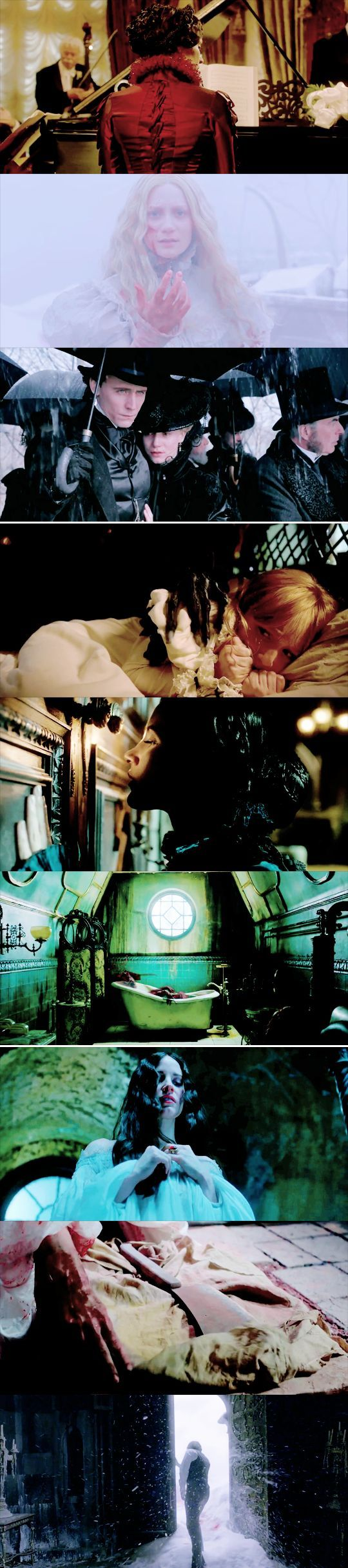 Crimson Peak (2015) Not a great movie, but the costumes and colors and picture was amazing.