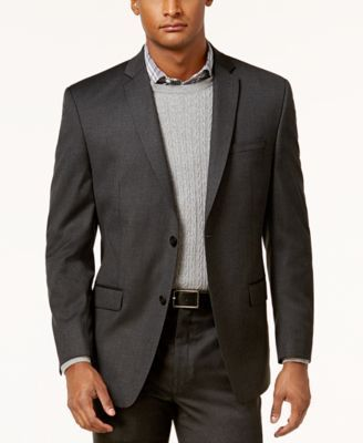 Marc New York by Andrew Marc Men's Classic-Fit Solid Charcoal Suit - Gray 46L