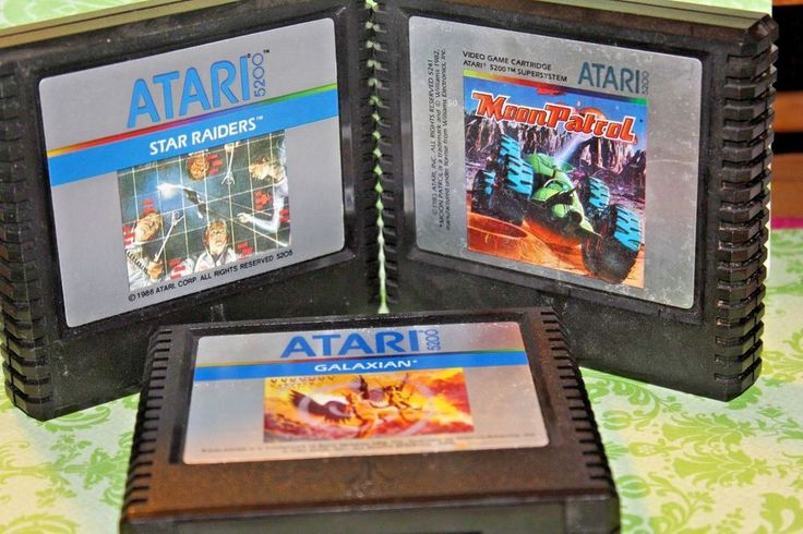 3X Vintage Atari 5200 game cartridge,Galaxian,Moon Patrol,Star Raiders  #ATARI