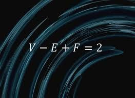 Euler's equation. If you cut the surface of a sphere up into faces, edges and vertices, and let F be the number of faces, E the number of edges and V the number of vertices, you will always get V – E + F = 2,""